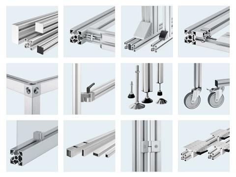 A nova vers o do cat logo de perfil de aluminio bosch for Perfiles de aluminio catalogo